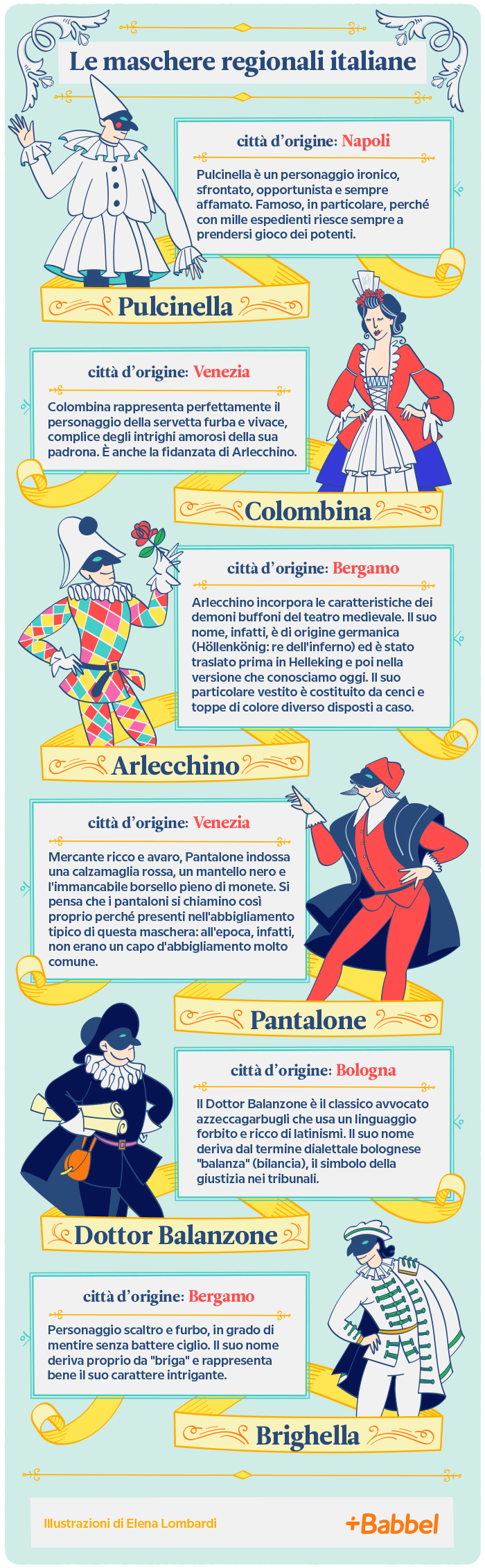 Le più belle maschere regionali italiane