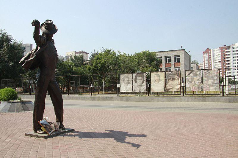 La statue de Michael Jackson, à Ekaterinbourg