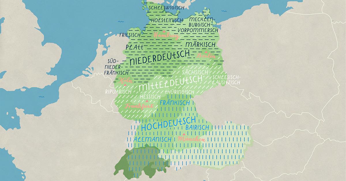 Dialekte in Deutschland: Eine Einführung in die Mundarten (und Hochdeutsch)