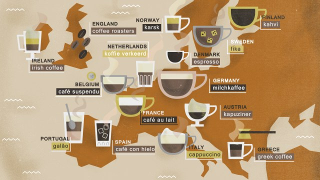 All The Ways To Drink Coffee In Europe
