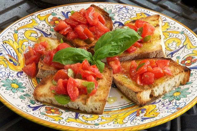 Italian dinner party bruschetta