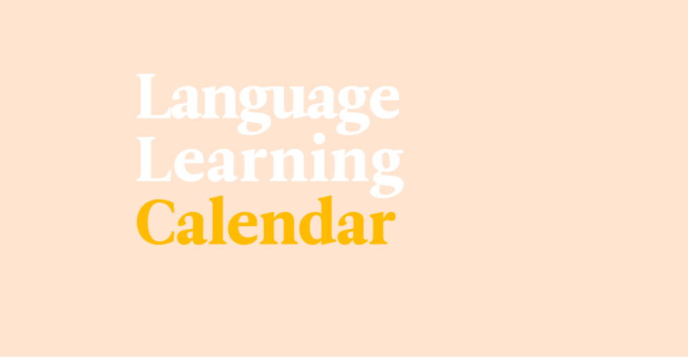 Make Learning A Habit With Your #LanguageDaily Printable Calendar!