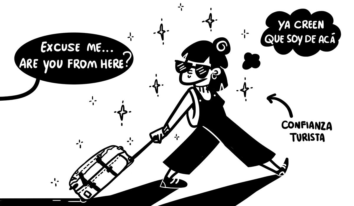 Diva en el aeropuerto