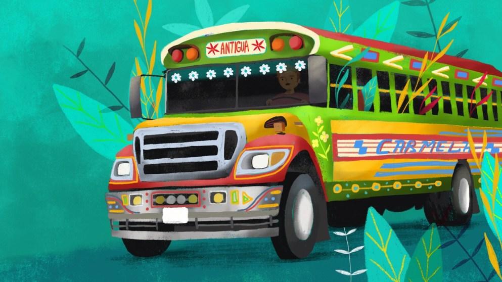 El chicken bus en Guatemala
