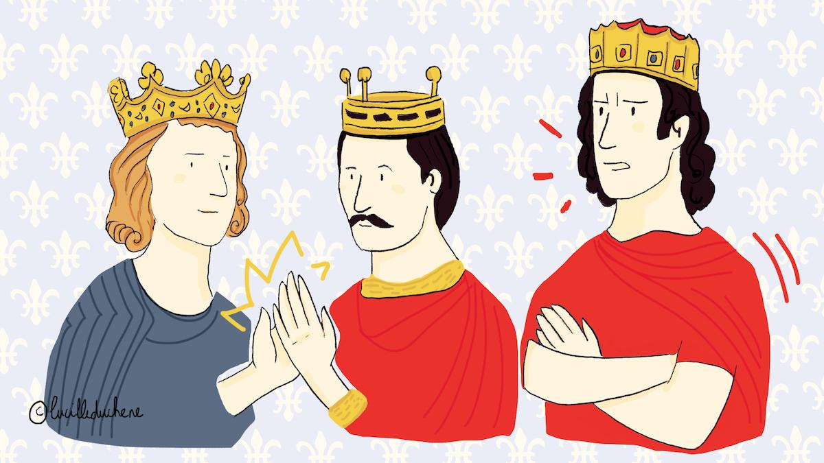 Louis le Germanique et Charles le Chauve scellent un pacte contre Lothaire