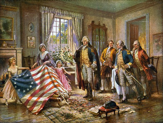 Painting of Betsy Ross
