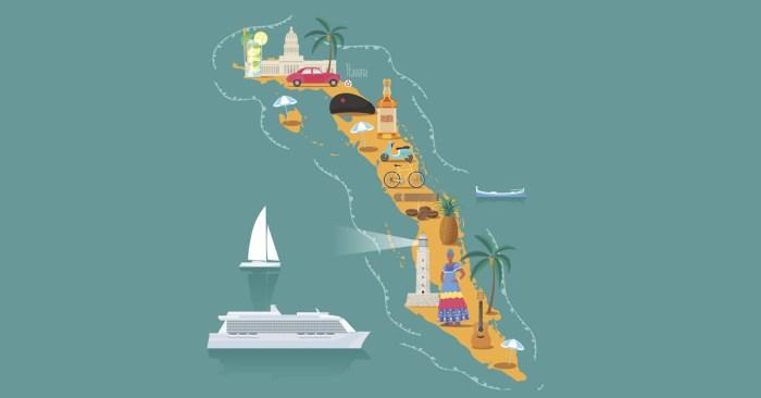 Kubanische Landkarte