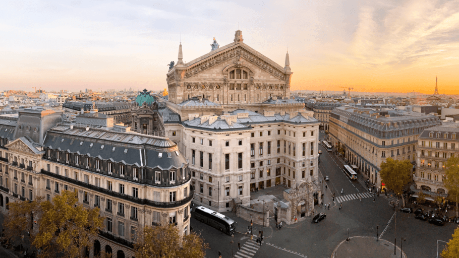 The Opera Garnier in Paris, which often puts on theater in other languages