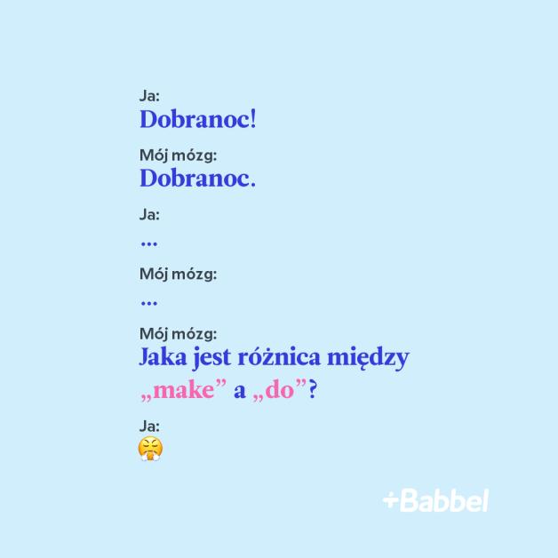 Internetowy mem Babbel