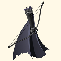 bow cape and arrows shinobi ninja