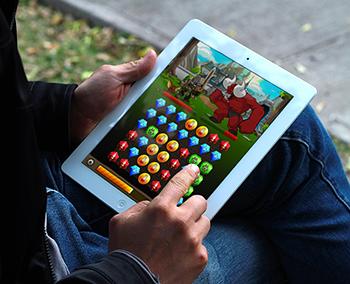 BG em um tablet