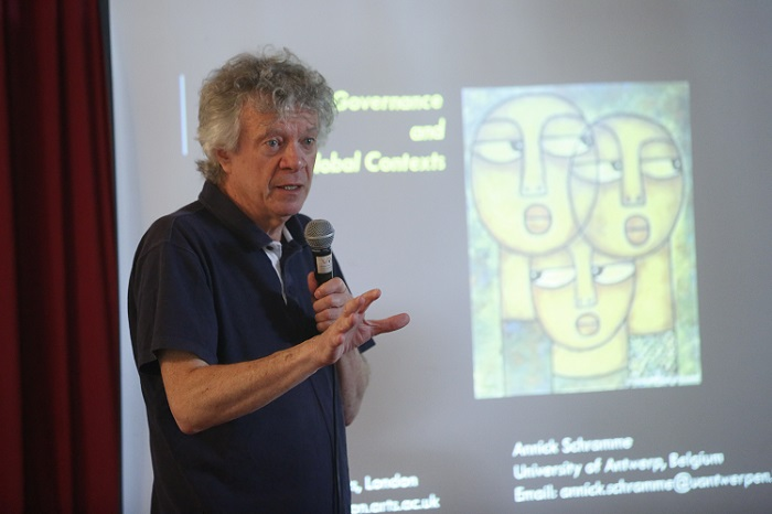 <b>Prof. Ian King from University of Arts, London shared his Ideas in International Culture governance workshop hosted by Arch Academy of Design recently in New Delhi </b>