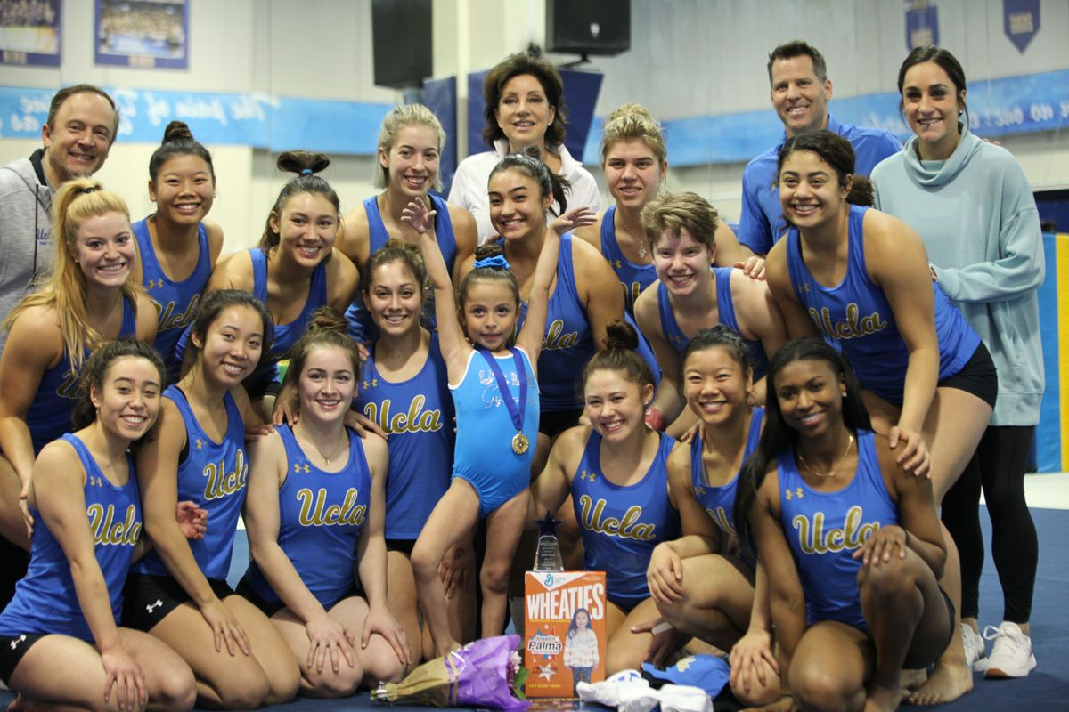 Thanks To UCLA And Make A Wish 6 Year Old Gymnast Scores A Perfect 10 UCLA