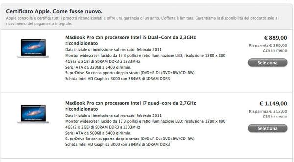 sconto macbook pro ricondizionati