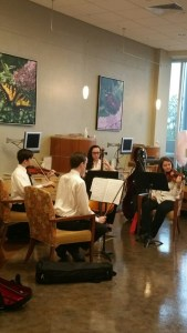 Congressional String Quartet performing at the DCH Cancer Center