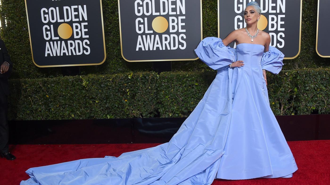 Lady Gaga Wore Blue Valentino To The 2019 Golden Globes Quartz