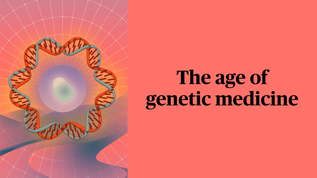 Psychedelic illustration of genome