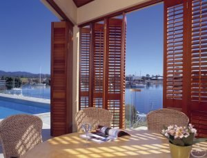 cedar shutters looking at ocean