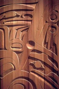 Native Canadian Carved Cedar