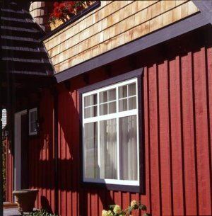Painted Board and Batten Cedar Siding