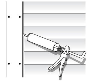 Applying Caulking Illustration