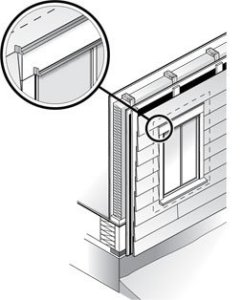Cedar Siding Flashing Installation Illustration