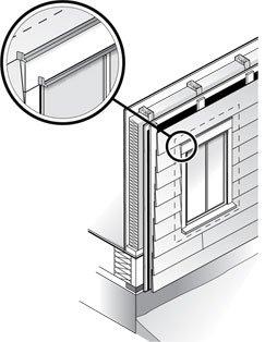Cedar Siding Flashing Installation Illustration