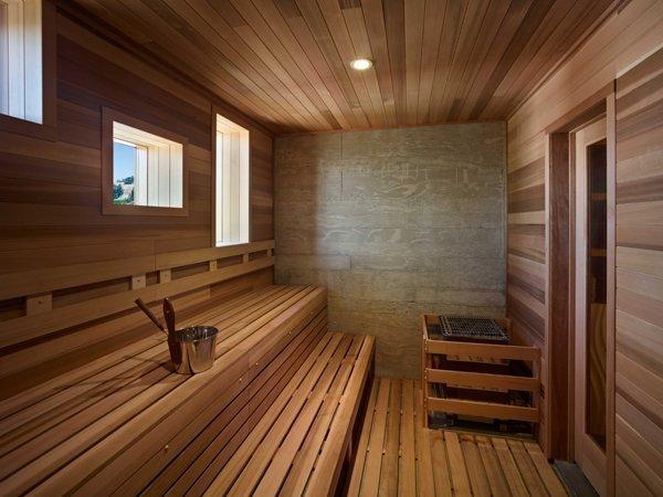 ground level cedar sauna