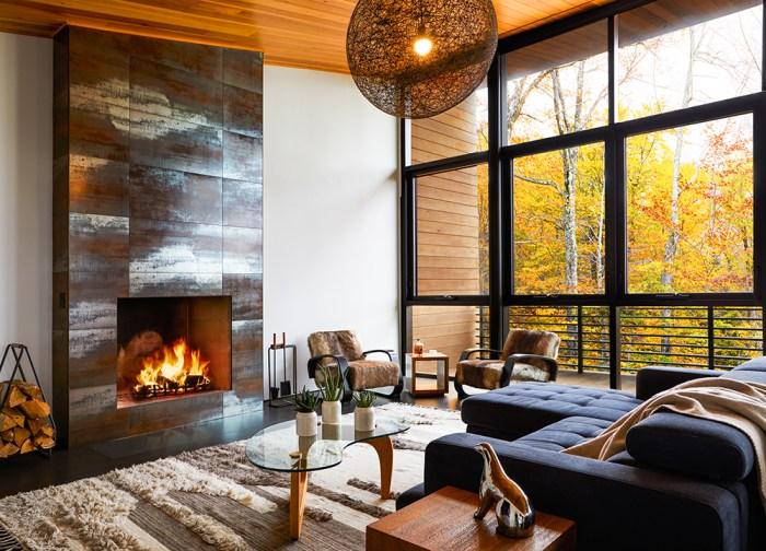 ceramic fireplace design
