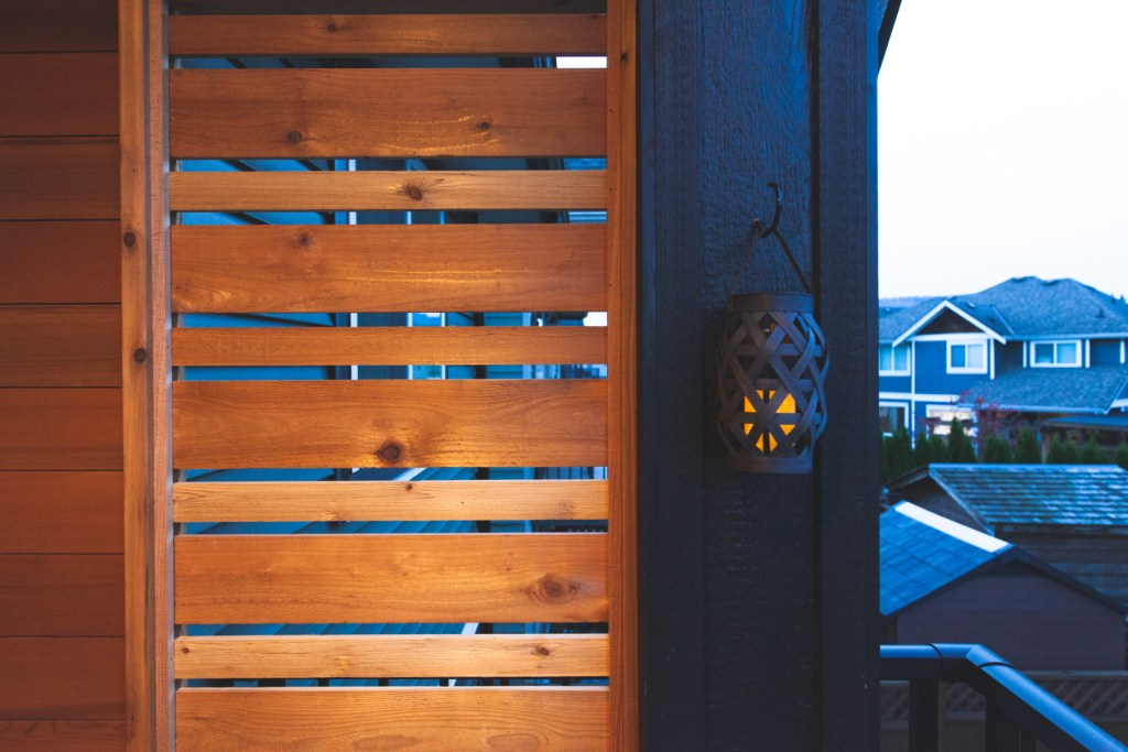 cedar porch privacy screen