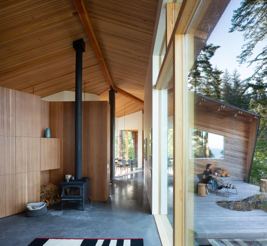 home with western red cedar siding