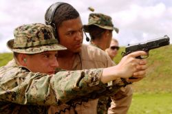 Marine training with the MEU(SOC) M45