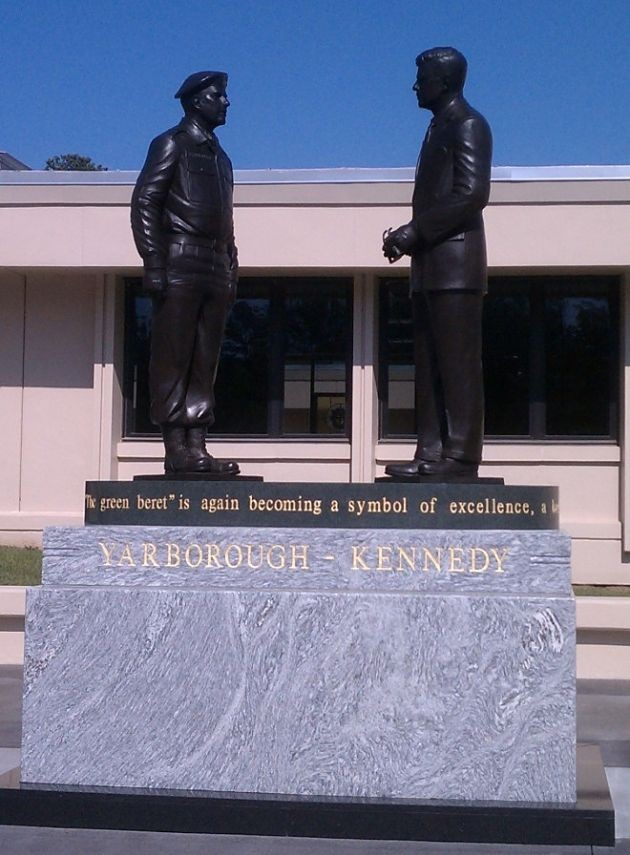 The Kennedy-Yarborough Statue Dedication at Ft. Bragg
