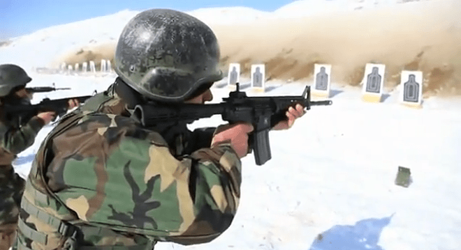 Afghan Soldier in the Commando course