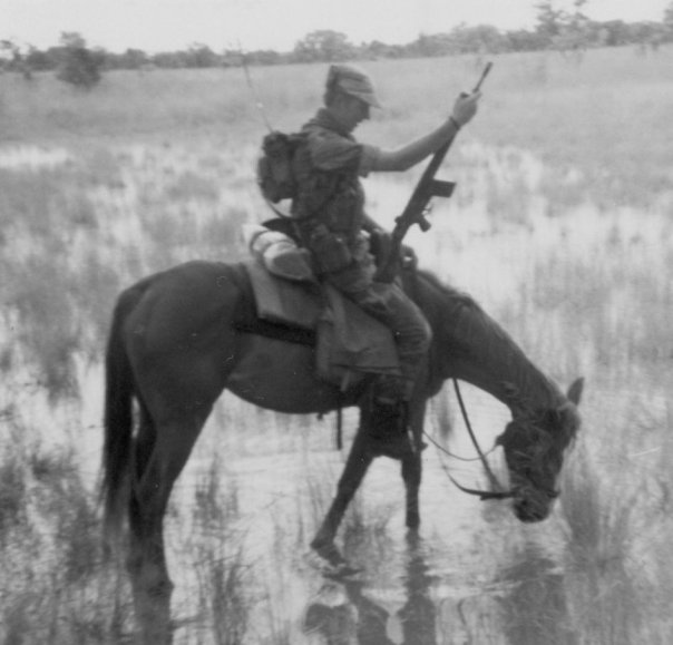 A Grey's Scout on Horseback
