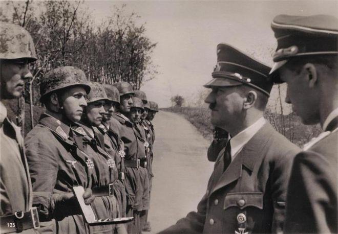 Walter Koch & Rudolf Witzig Receive Knight's Crosses from Hitler After Eben Emael