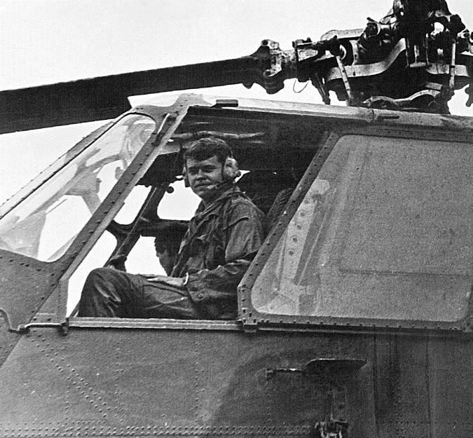 John S. Meyer in Kingbee co-pilot seat