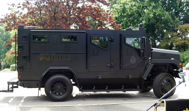 Vancouver PD Armoured Rescue Vehicle