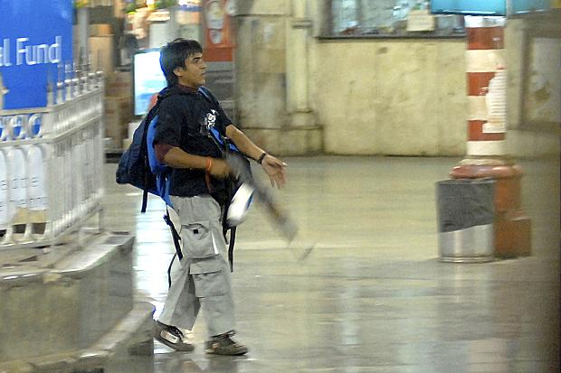 Ajmal Kasab, the only terrorist who was captured.