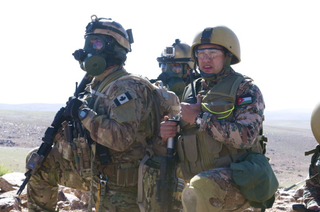Canadian, Jordanian SOF conduct CBRN training during Eager Lion 2014
