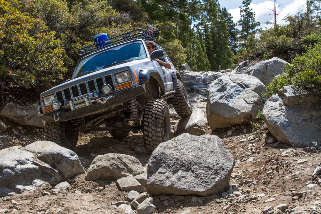 Nick Cahill takes his Jeep through the world famous Rubicon Trail