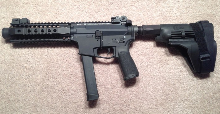 9mm AR pistol with a Sig arm brace