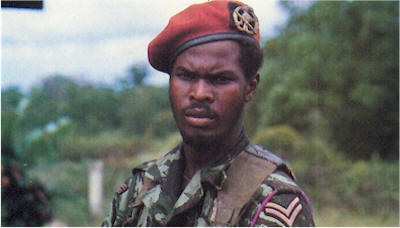 Ronnie Brunswijk - 25 years old when he led the revolt against Desi Bouterse.