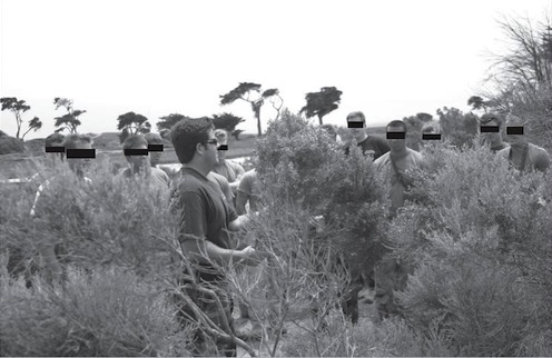 Brandon Webb training SEAL sniper students in the art of stealth and concealment. Courtesy author's collection.