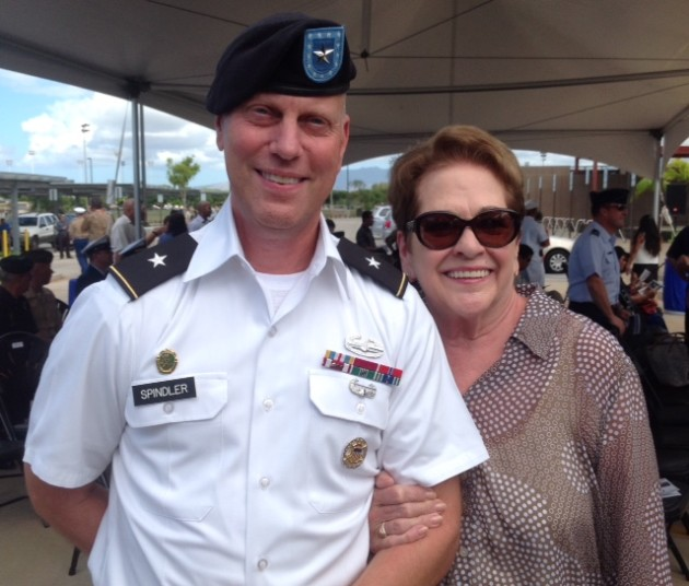 New DPAA Deputy Director BG Mark Spindler with Ann Griffith-Mills, chairman of the Board of Directors for the National League of POW/MIA Families, in Hawaii Monday during several DPAA events.