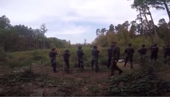 Video: American Forces Conduct Reflexive Fire Drills with Ukrainian Soldiers