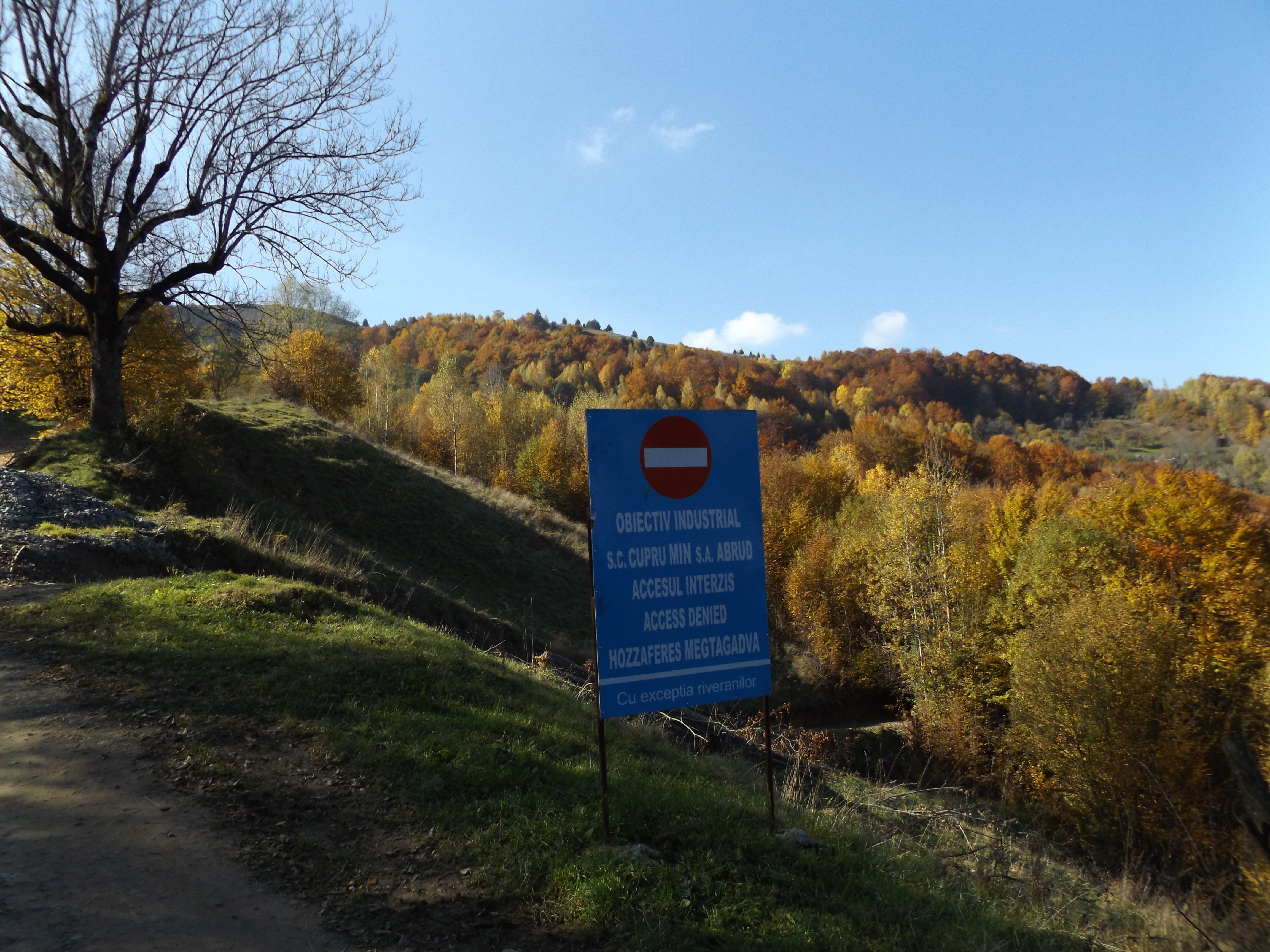 Access to the village is technically unauthorized. Image courtesy of the author.