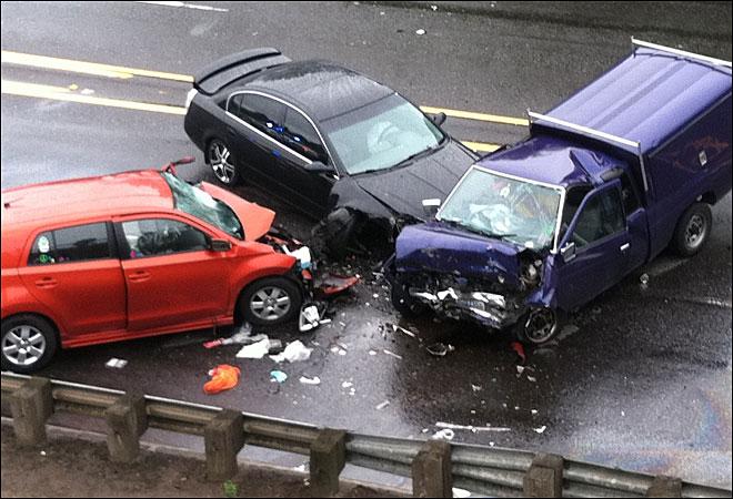 3 car crash