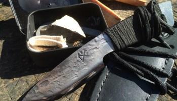 Indy Hammered Knives Neck Knife