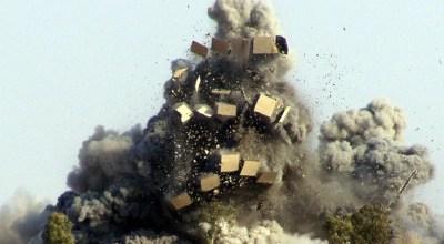 Watch JDAM obliterate ISIS hangout